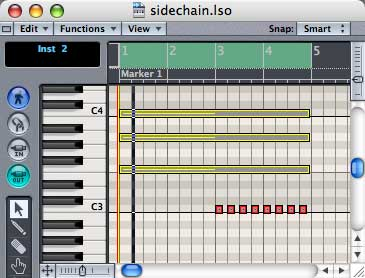 Logic compressor with sidechain