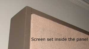 screen set inside panel